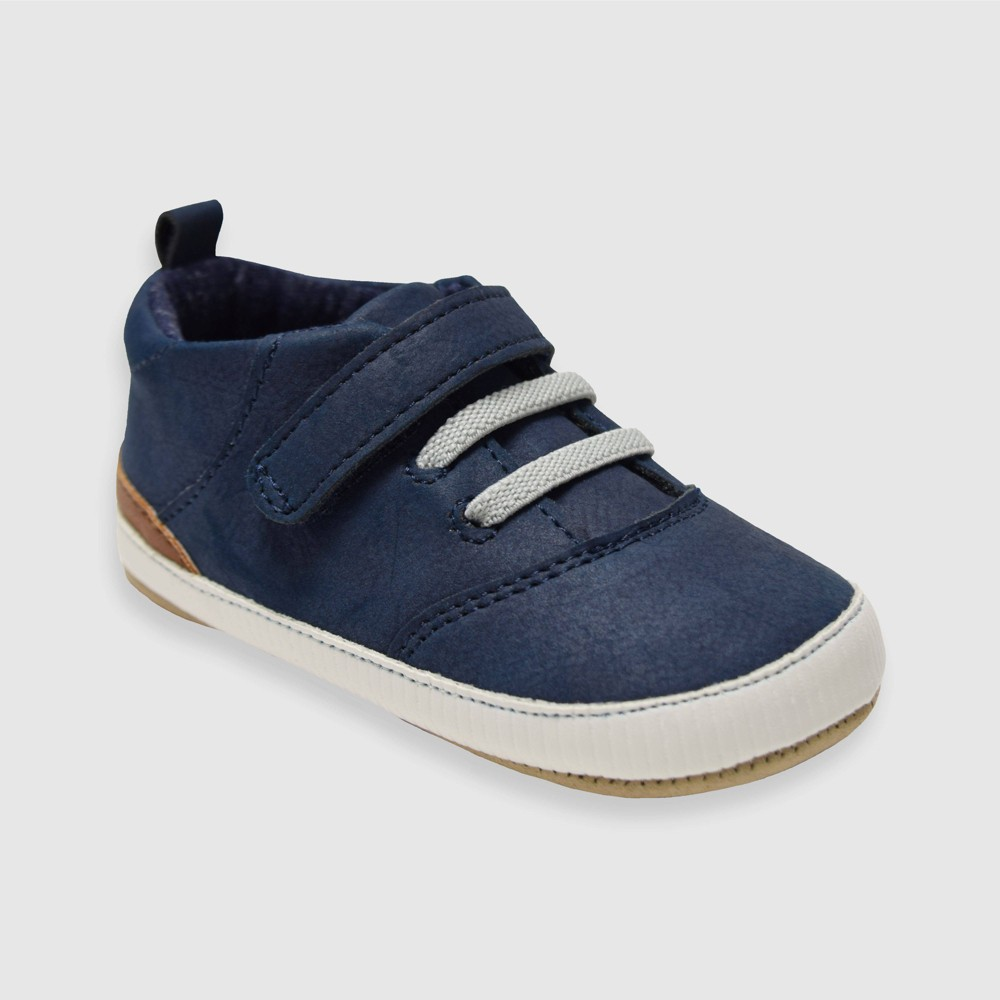 Image of Baby Boys' Ro+Me by Robeez Michael Sneakers - Navy 6-12M, Toddler Boy's, MultiColored