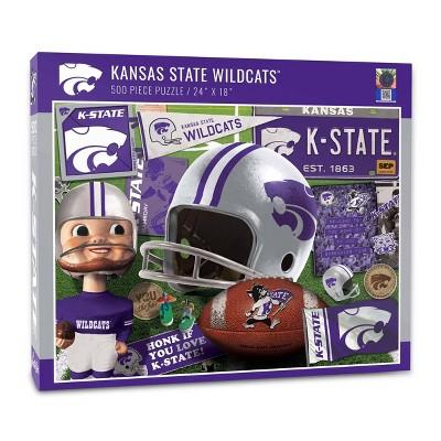 NCAA Kansas State Wildcats Throwbacks Puzzle 500pc