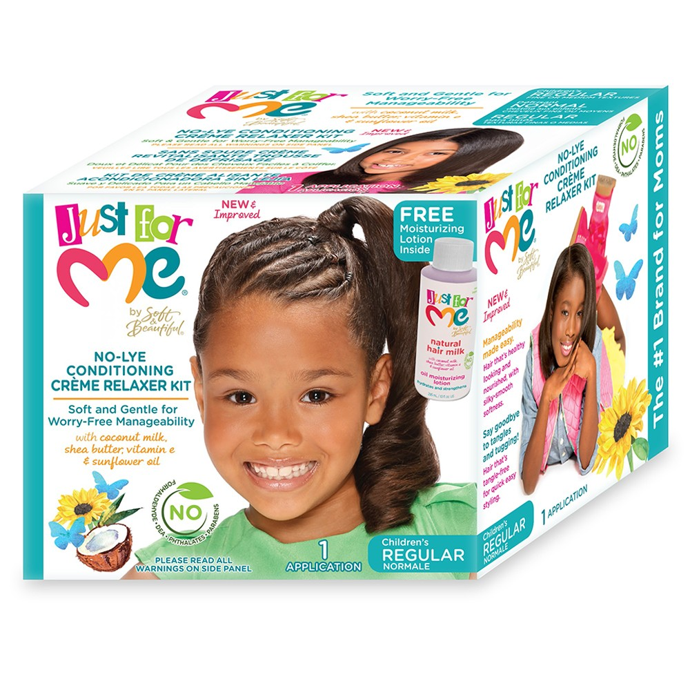 Image of Just For Me No-Lye Conditioning Crème Relaxer (Regular)