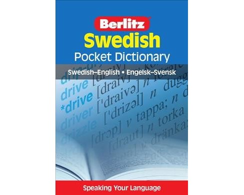 Berlitz Swedish Pocket Dictionary -  Bilingual (Berlitz Pocket Dictionaries) (Paperback) - image 1 of 1