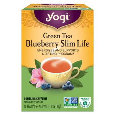 Yogi Green Tea Blueberry Slim Life 16ct