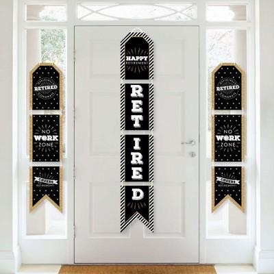 Big Dot of Happiness Happy Retirement - Hanging Vertical Paper Door Banners - Retirement Party Wall Decoration Kit - Indoor Door Decor