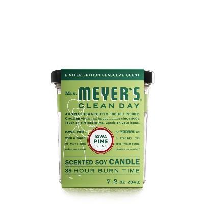 Mrs. Meyer's Clean Day Iowa Pine Large Jar Candle - 7.2oz