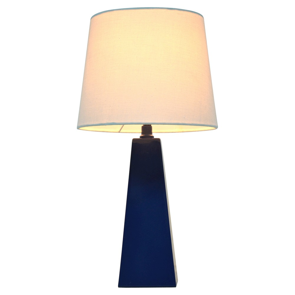 Tapered Table Lamp Navy (Blue) (Includes Cfl bulb) - Pillowfort