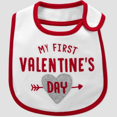 Baby 'My First Valentine's Day' Bib - Just One You® made by carter's White