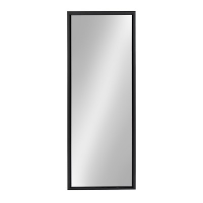 "16"" x 48"" Evans Framed Wall Panel Mirror Black - Kate and Laurel"