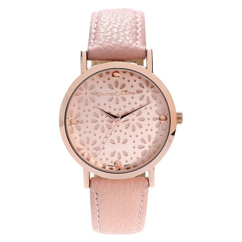 Women's Journee Collection Flower Print Dial Strap Watch - image 1 of 2