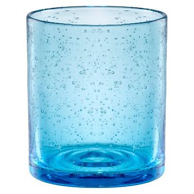 Artland Iris 14oz 4pk Double Old-Fashioned Glasses Turquoise