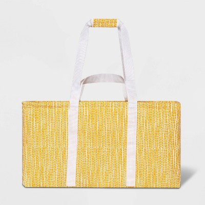 Soft Sided Scrunchable Laundry Basket Yellow Dot - Room Essentials™