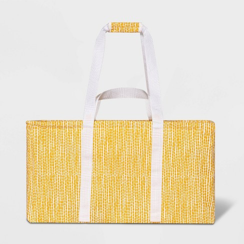 Soft Sided Scrunchable Laundry Basket Yellow Dot - Room Essentials™ - image 1 of 4