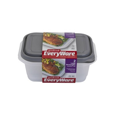 Good Cook EveryWare Large Rectangle Food Storage - 2ct