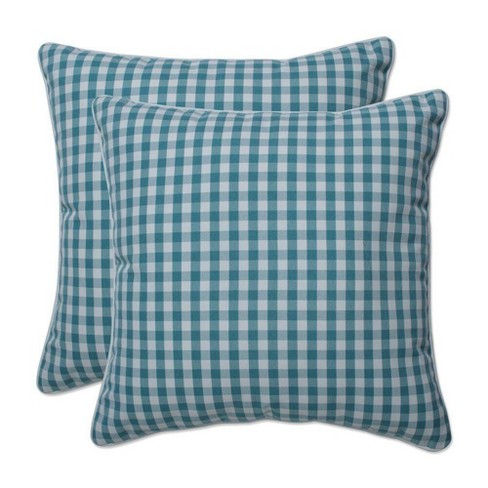 """16.5"""" x 16.5"""" Outdoor/Indoor Throw Pillow Dawson Opal Green - Pillow Perfect - image 1 of 1"""