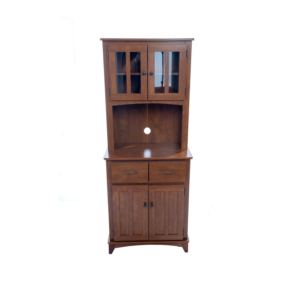 Image of Traditional Microwave Cabinet - Oak - Home Source Industries