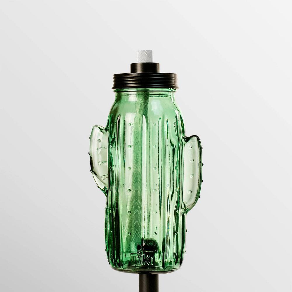 """Image of """"Tiki Brand 65"""""""" Chiko Cactus Metal Torch Green"""""""