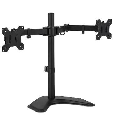 "Mount-It! Dual Adjustable Monitor Arm Up To 32"" Black MI-2781"