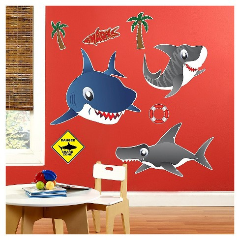 Sharks Wall Decal - image 1 of 1