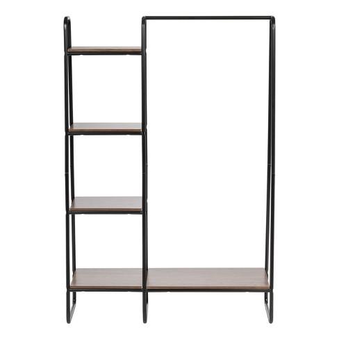 dabe867796b IRIS Metal Garment Rack With Wood Shelves   Target