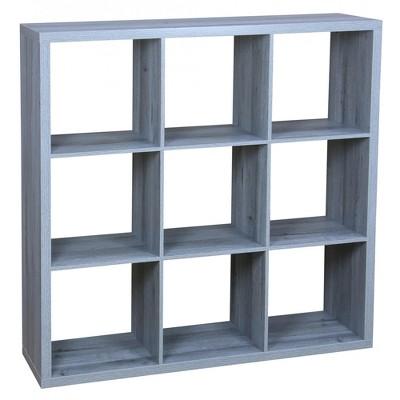 Home Basics 9 Open Cube Organizing Wood Storage Shelf