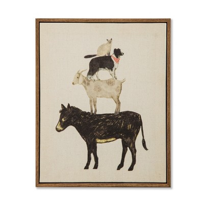 10 x8  Framed Canvas Stacked Animals (Horse)- Threshold™