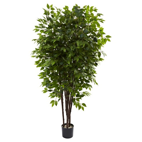 Nearly Natural 6.5' Deluxe Ficus Tree - image 1 of 1