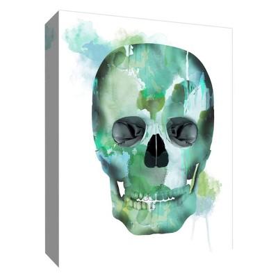 "11"" x 14"" Skull Decorative Canvas Wall Art - PTM Images"