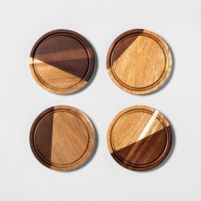 4pk Wood Coaster Set - Hearth & Hand™ with Magnolia