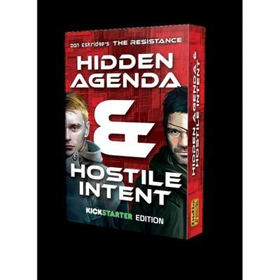 Hidden Agenda & Hostile Intent (Kickstarter Edition) Board Game