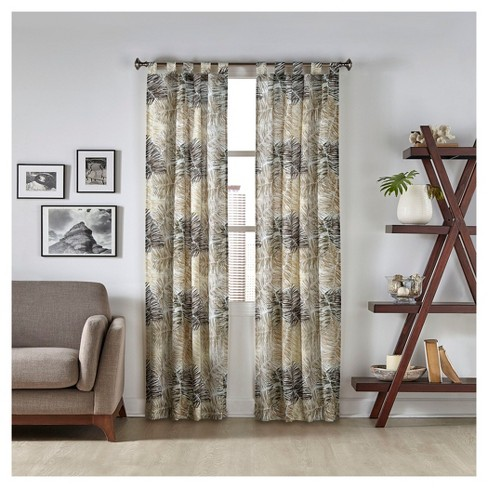2 Pack Marley Tropical Curtain Panel - Pairs To Go - image 1 of 1