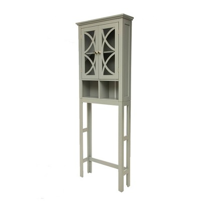 Bathroom Cabinet Spacesaver Gray - Glitzhome