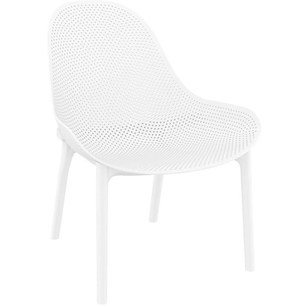 Image of 4pk Sky Lounge Patio Dining Chair - White - Resol
