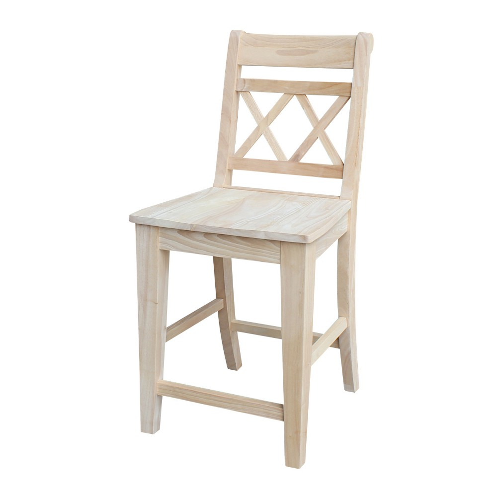 24 Canyon Counter height Stool - Unfinished - International Concepts, Wood