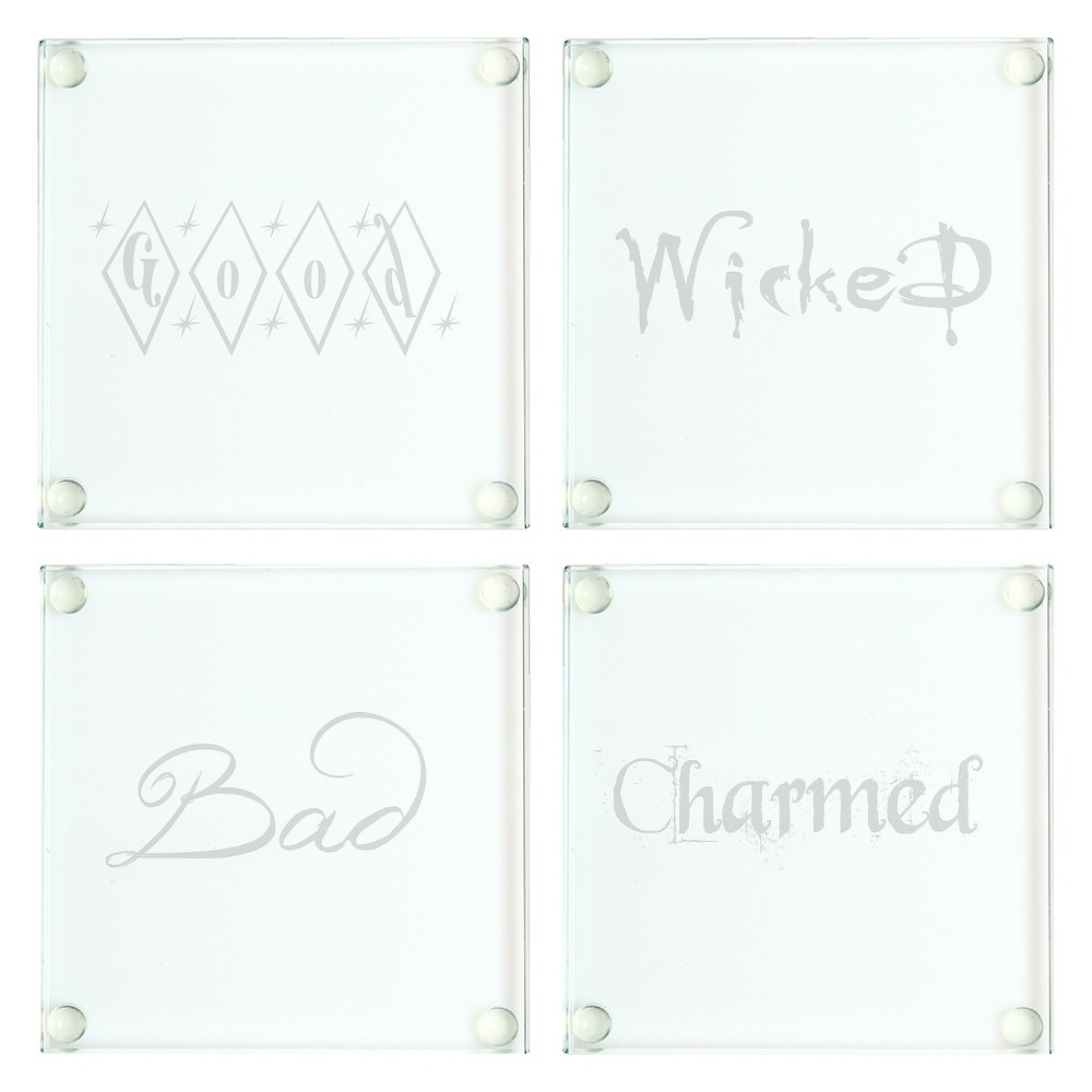 Image of Halloween Glass Coasters - 4ct, Clear