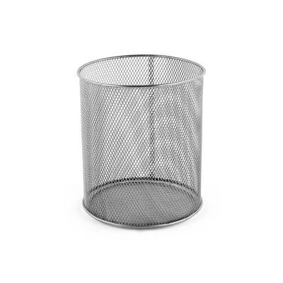 "Design Ideas Mesh Utensil Cup – Kitchen Utensil Holder- Silver Mesh, 5.5"" x 5.5"" x 6.6"""