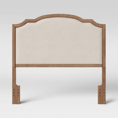 Shelburne Upholstered Full/Queen Wood Headboard Brown/Beige - Threshold™