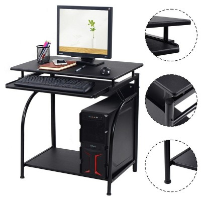 Costway Computer Desk PC Laptop Writing Table Workstation Home Office Study Furniture