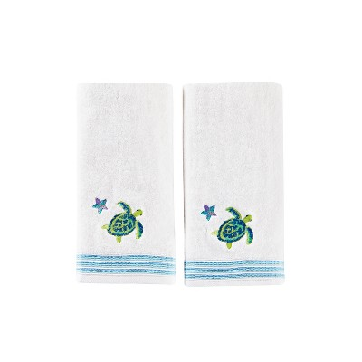 2pc Watercolor Ocean Hand Towel Bath Towels Sets White - Saturday Knight Ltd.