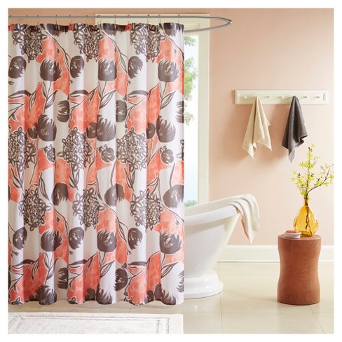 Floral Shower Curtain Coral Target