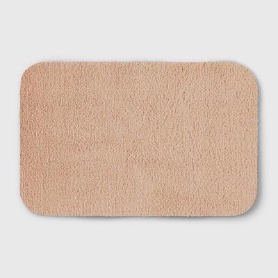 Perfectly Soft Solid Shag Bath Rug Glazed Peach - Opalhouse™