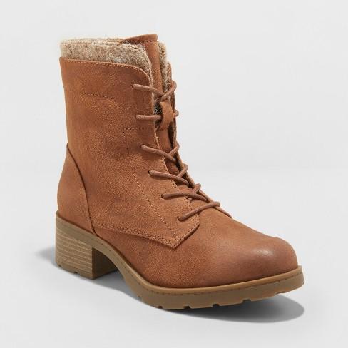 0ac8be8c30c Women's Dez Lace Up Hiker Boots - Universal Thread™ Cognac 5