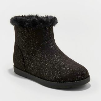 ad8e9debe963 Girls  Haiden Microsuede Fleece Ankle Fashion Boots - Cat   Jack™ Black 3