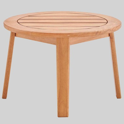 Vero Ash Wood Outdoor Patio Side End Table - Natural - Modway