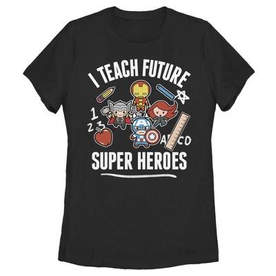 Women's Marvel Avengers Classic I Teach Super Heroes T-Shirt