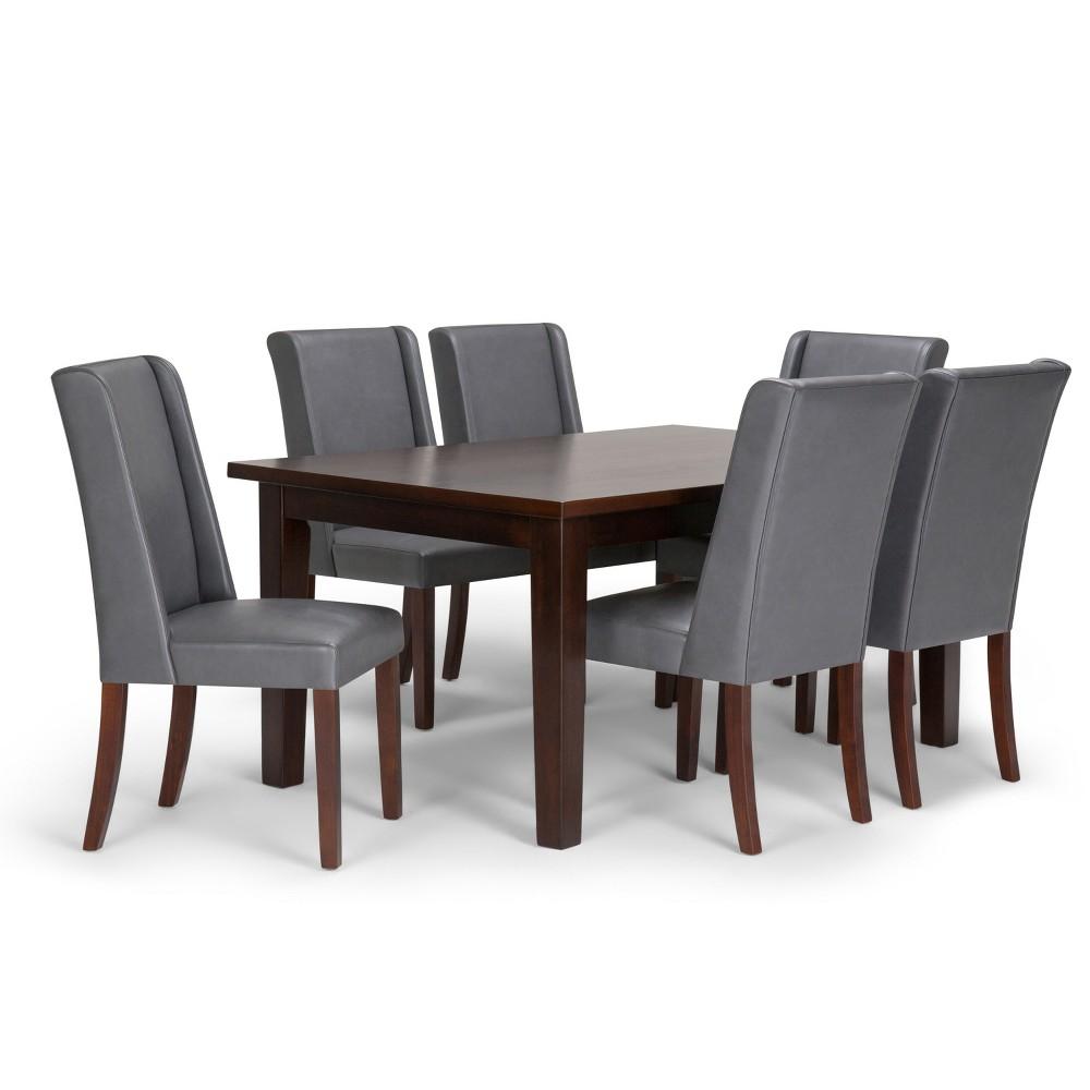 Sedona Solid Hardwood 7pc Dining Set Stone Gray - Wyndenhall