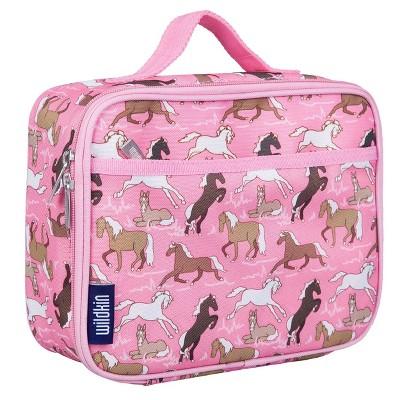 Wildkin Horses Lunch Box - Pink