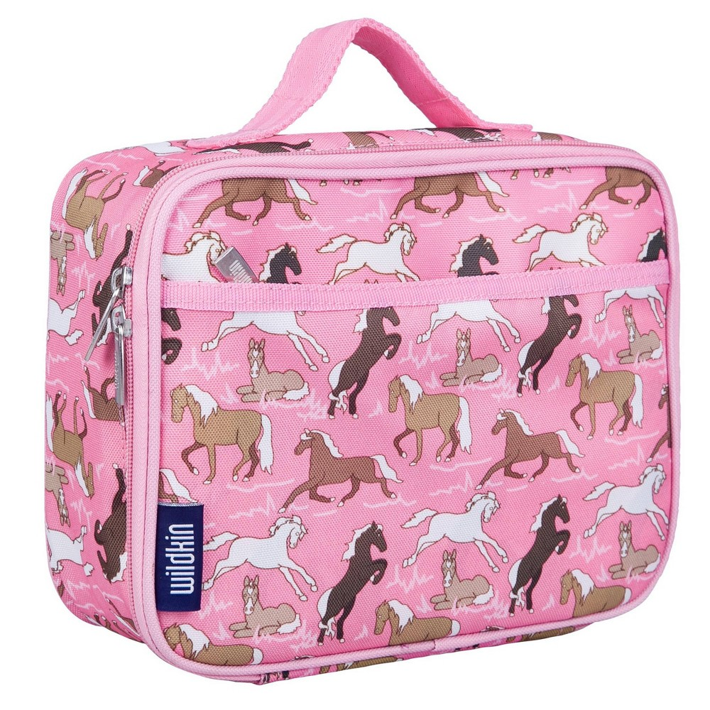 Wildkin Horses Lunch Box Pink