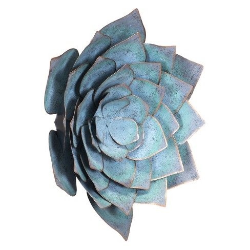 "ZM Home 17"" Floral Wall Sculpture Blue - image 1 of 3"