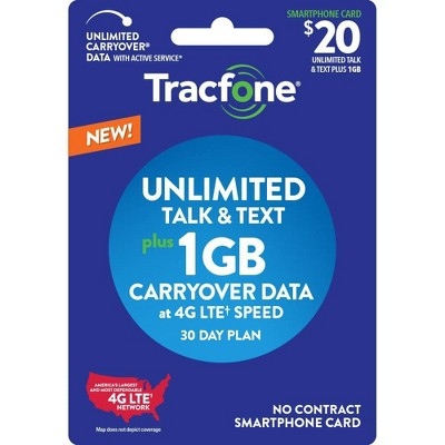 Tracfone 30-Day Unlimited Talk/Text with Carryover Data (Email Delivery)