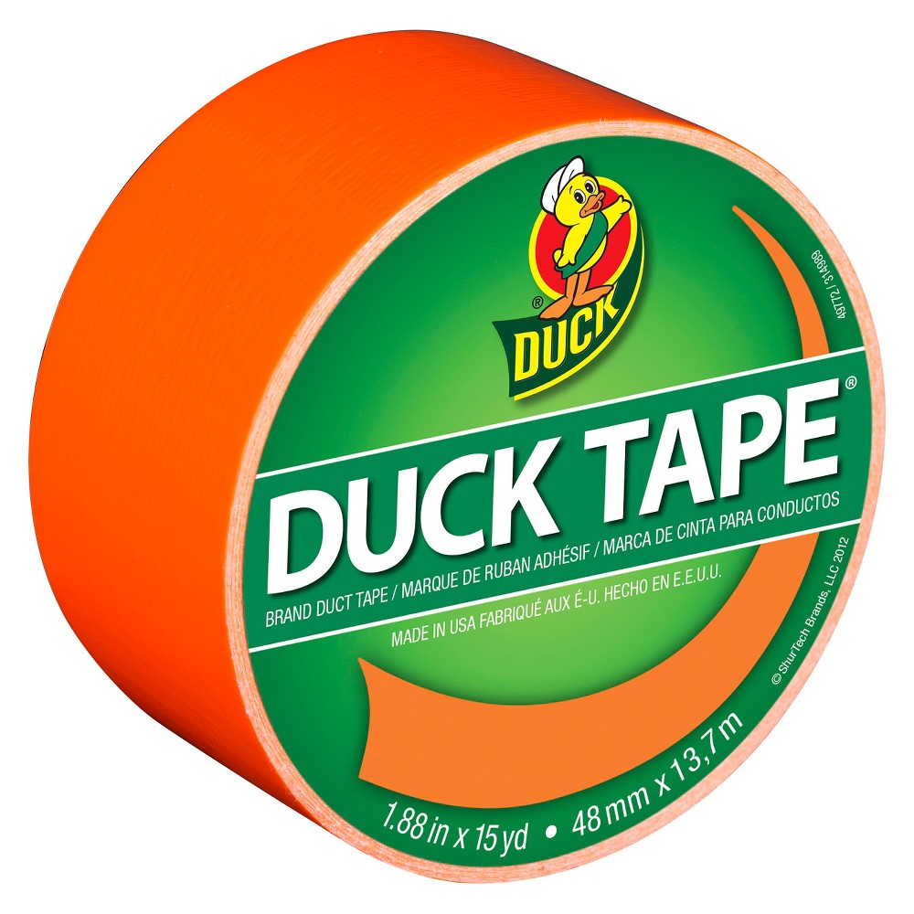 Color Duck Tape Brand Duct Tape Neon Orange, 1.88 in. x 15 yd.