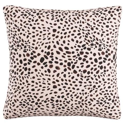 "Pink/Black Cheetah Throw Pillow (20""x20"") - image 1 of 4"