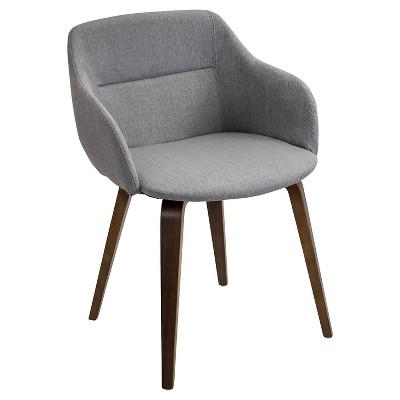 Campania Mid-Century Modern Chair in Walnut Wood - LumiSource